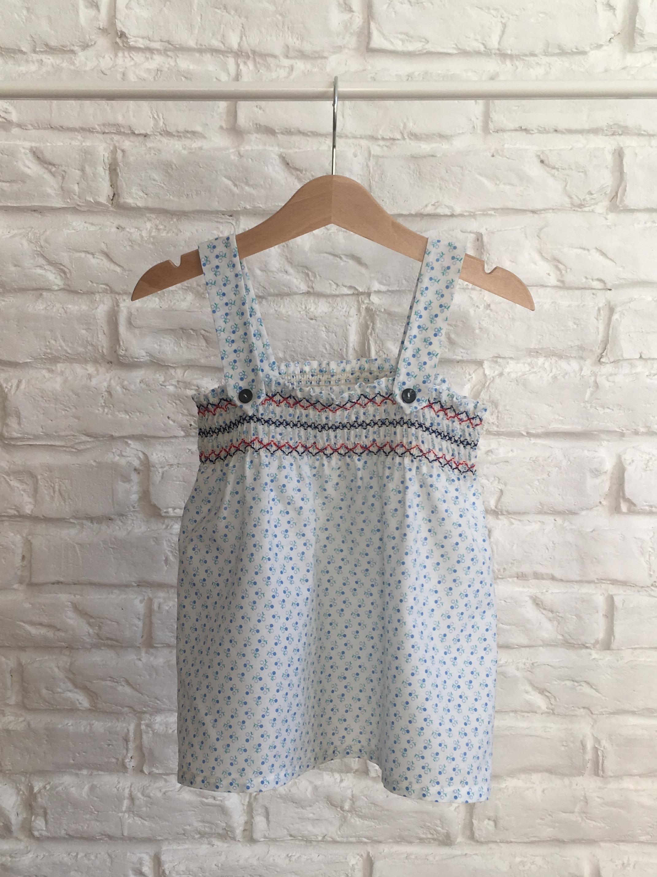124ae6968aa4 Biele šaty s modrozeleným vzorom - Bazár Veronika - Morský Koník