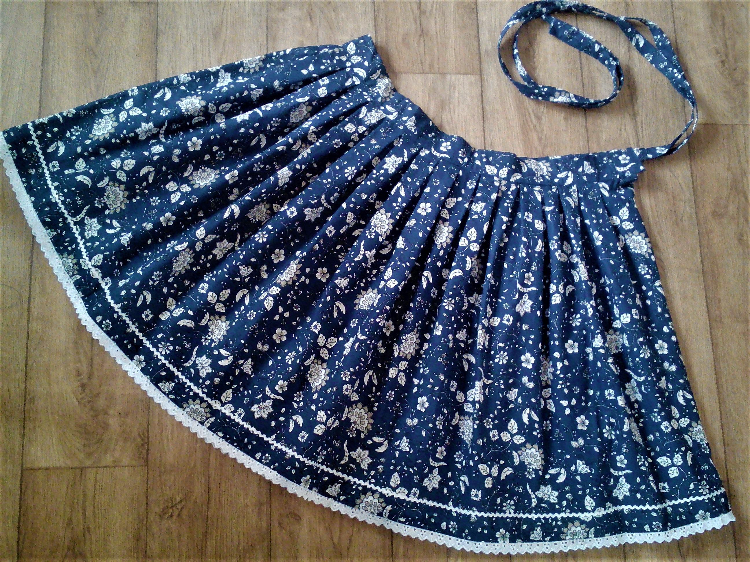 393d5772c1f8 Sukňa folk modrotlač - Handmade Viktória Pastíriková - Morský Koník